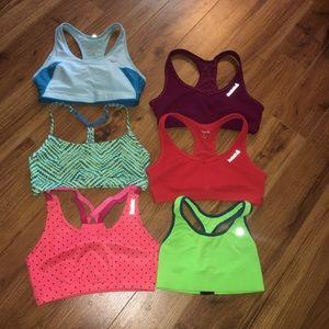 Bundle of 6 sports bras size small